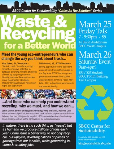Poster - waste & recycling for a better world