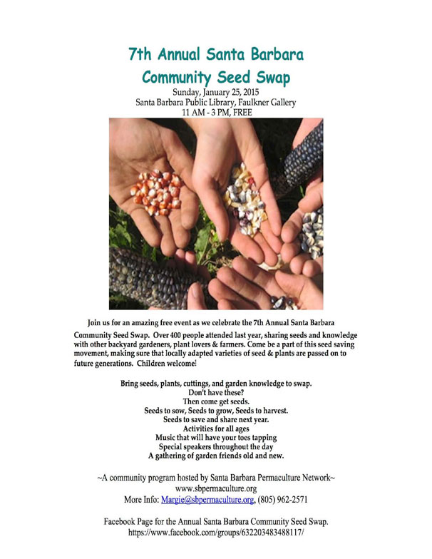 7th Annual Santa Barbara Community Seed Swap